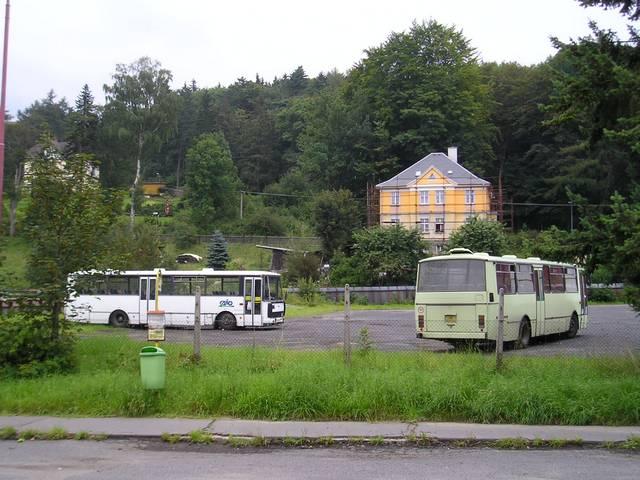 Provozovna Autobusů Karlovy Vary v Saské ulici