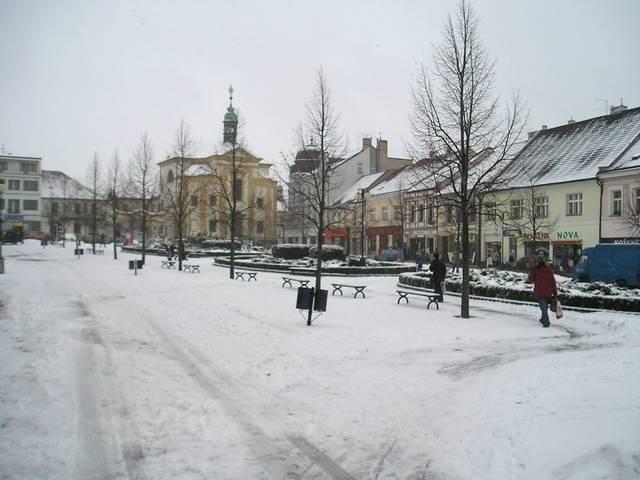 Masarykovo náměstí v centru Benešova