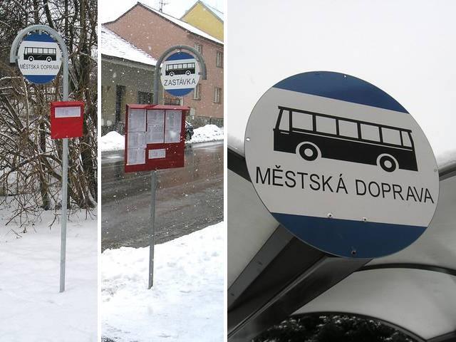 Zastávkové označníky MHD Benešov