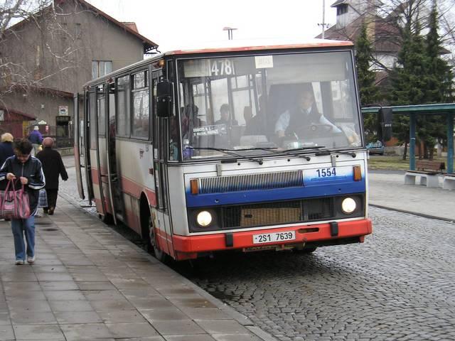 Dnes již vyřazená Karosa B 732 ev. č. 1554 (r. v. 1993, ex DP Praha)