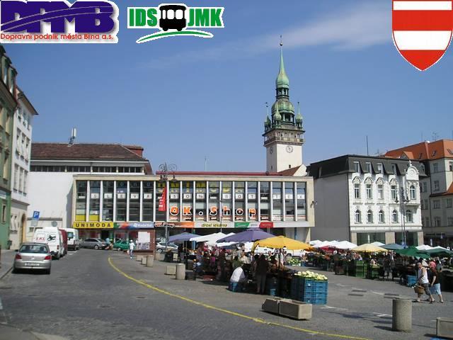 Dominikánské náměstí v historickém centru Brna