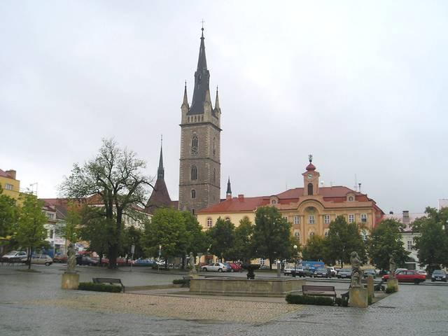 Náměstí Jana Žižky v centru Čáslavi