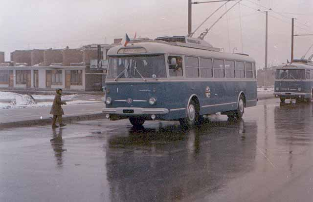 Kabul trolleybuses in 1979.