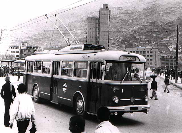 Trolleybus transferring point Kino Pamir.
